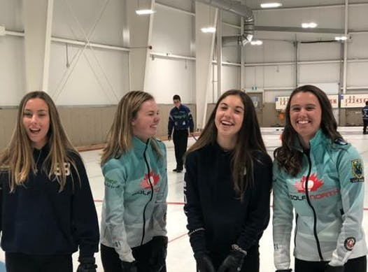 curling fundraising - Team Belliveau