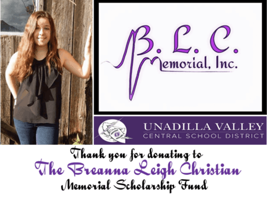 scholarships & bursaries fundraising - Breanna Leigh Christian Memorial