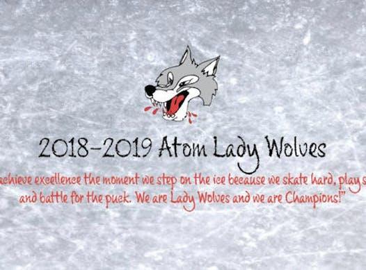 ice hockey fundraising - Atom BB Lady Wolves