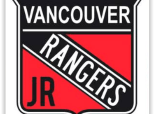 ice hockey fundraising - Vancouver Jr. Rangers 2019-20