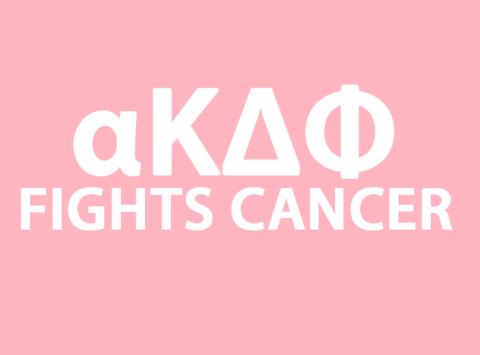 fraternities & sororities fundraising - alpha Kappa Delta Phi Sorority - Raising money to fight breast cancer