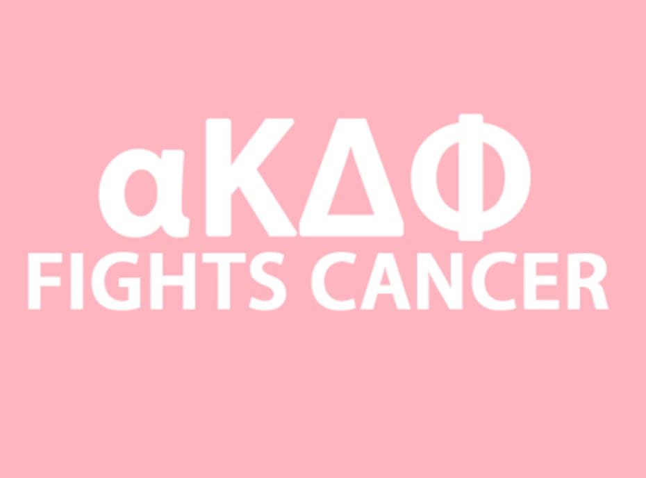 alpha Kappa Delta Phi Sorority - Raising money to fight breast cancer