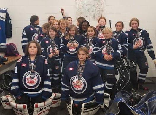 ice hockey fundraising - Brampton Canadettes Atom B