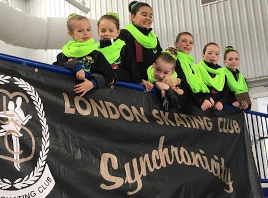 figure skating fundraising - London Skating Club Synchronicity PRE-JUVENILE