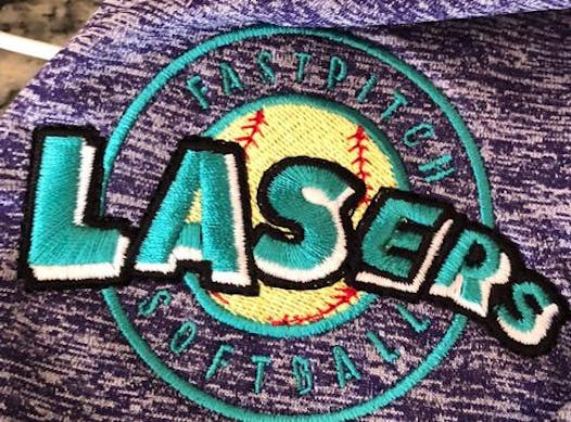 softball fundraising - Lasers Teal