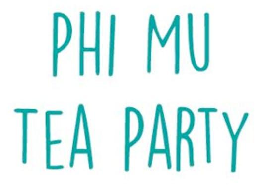fraternities & sororities fundraising - Phi Mu Tea Party 2018