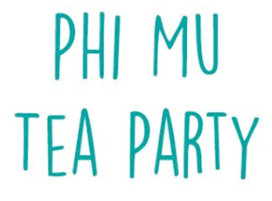 Phi Mu Tea Party 2018