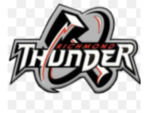 ice hockey fundraising - Richmond thunder gray