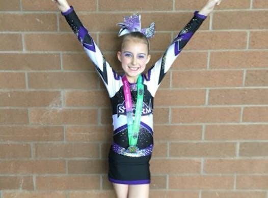 cheerleading fundraising - Perfect Storm Athletics Milly Jones