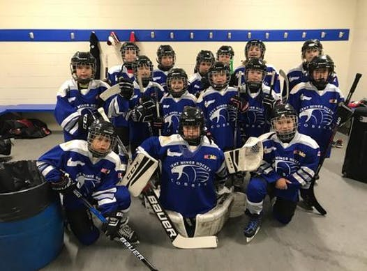 ice hockey fundraising - Tilbury Atom Blue