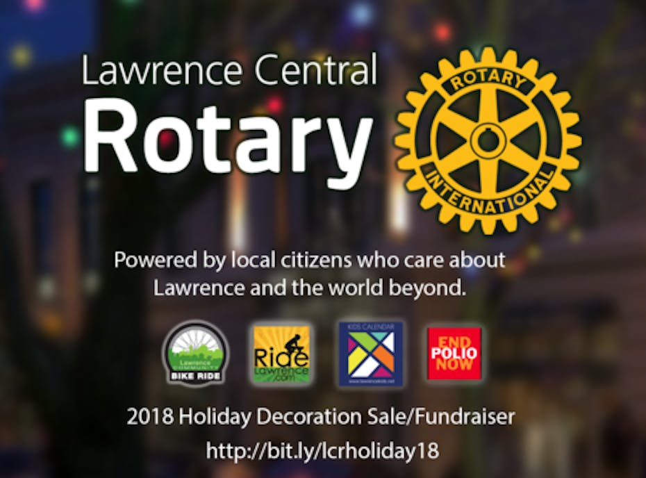 Lawrence Central Rotary 2018 Holiday Decoration Sale