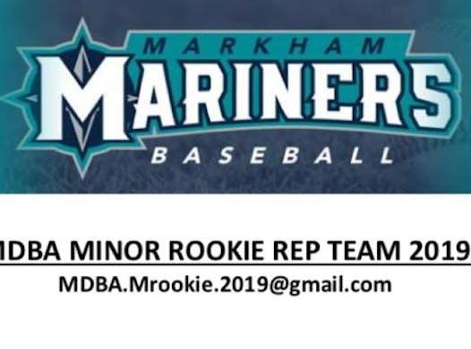 baseball fundraising - Markham Mariners Minor Rookie 2019