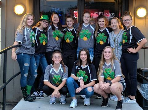 softball fundraising - Lady Irish 14u black