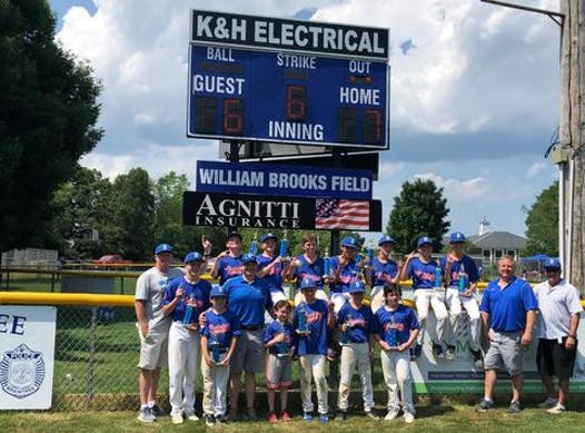 baseball fundraising - Braintree All-stars 2 - Cooperstown 2019
