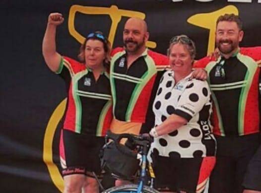 cycling fundraising - The Melan Heads