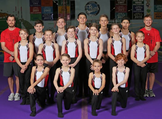 gymnastics fundraising - Flips Gymnastics Boys Team