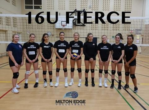 volleyball fundraising - Milton Edge 16U Fierce