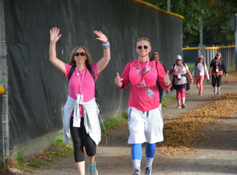 breast cancer fundraising - Julie's Susan G. Komen Breast Cancer 3 Day