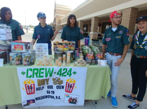 scouts fundraising - Crew 424 Wreaths for DC Trip