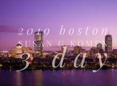 breast cancer fundraising - Boston 2019 Susan G Komen 3 Day ~ Kim Gailey