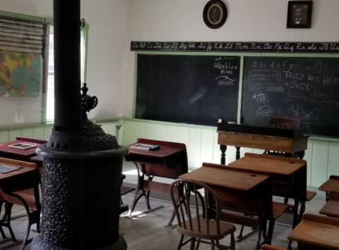 Support the Buffalo Bill Museum's schoolhouse exhibit