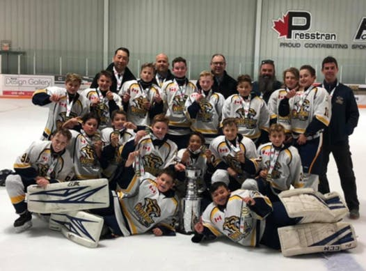 ice hockey fundraising - Whitby Peewee A Blue