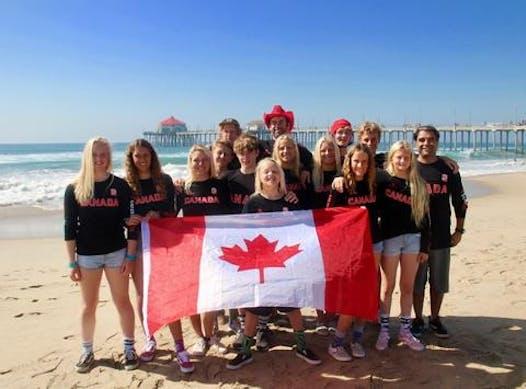 surfing fundraising - Canadian Junior Surf Team