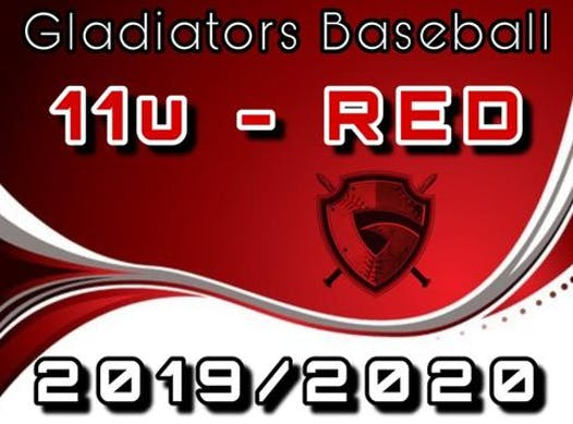 baseball fundraising - Gladiators Baseball 11u RED