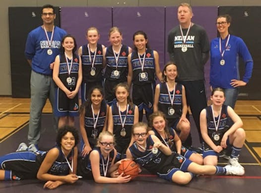 basketball fundraising - Nepean Blue Devils 2007 Girls