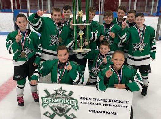 ice hockey fundraising - Holy Name Squirt Orszulak