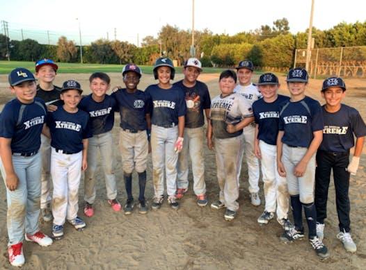 baseball fundraising - LA Xtreme 12u White