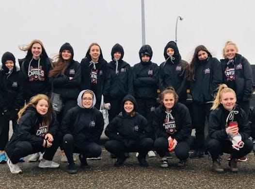 ice hockey fundraising - PG Bantam Fem Captials