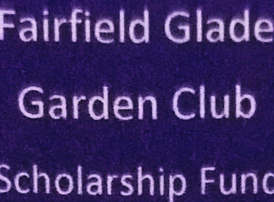 Fairfield Glade Garden Club Scholarships