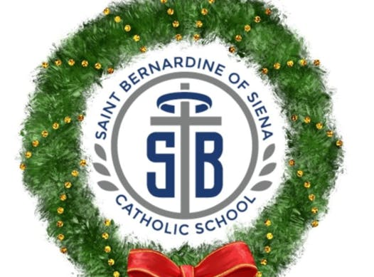 elementary school fundraising - St. Bernardine of Siena Christmas Wreath Fundraiser