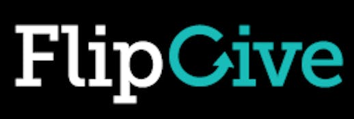 FlipGive logo on black background