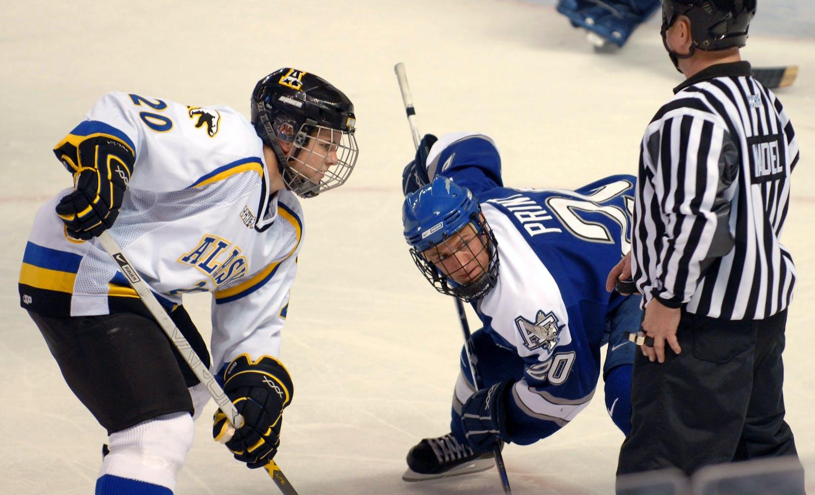 Air force   alaska   fairbanks hockey faceoff