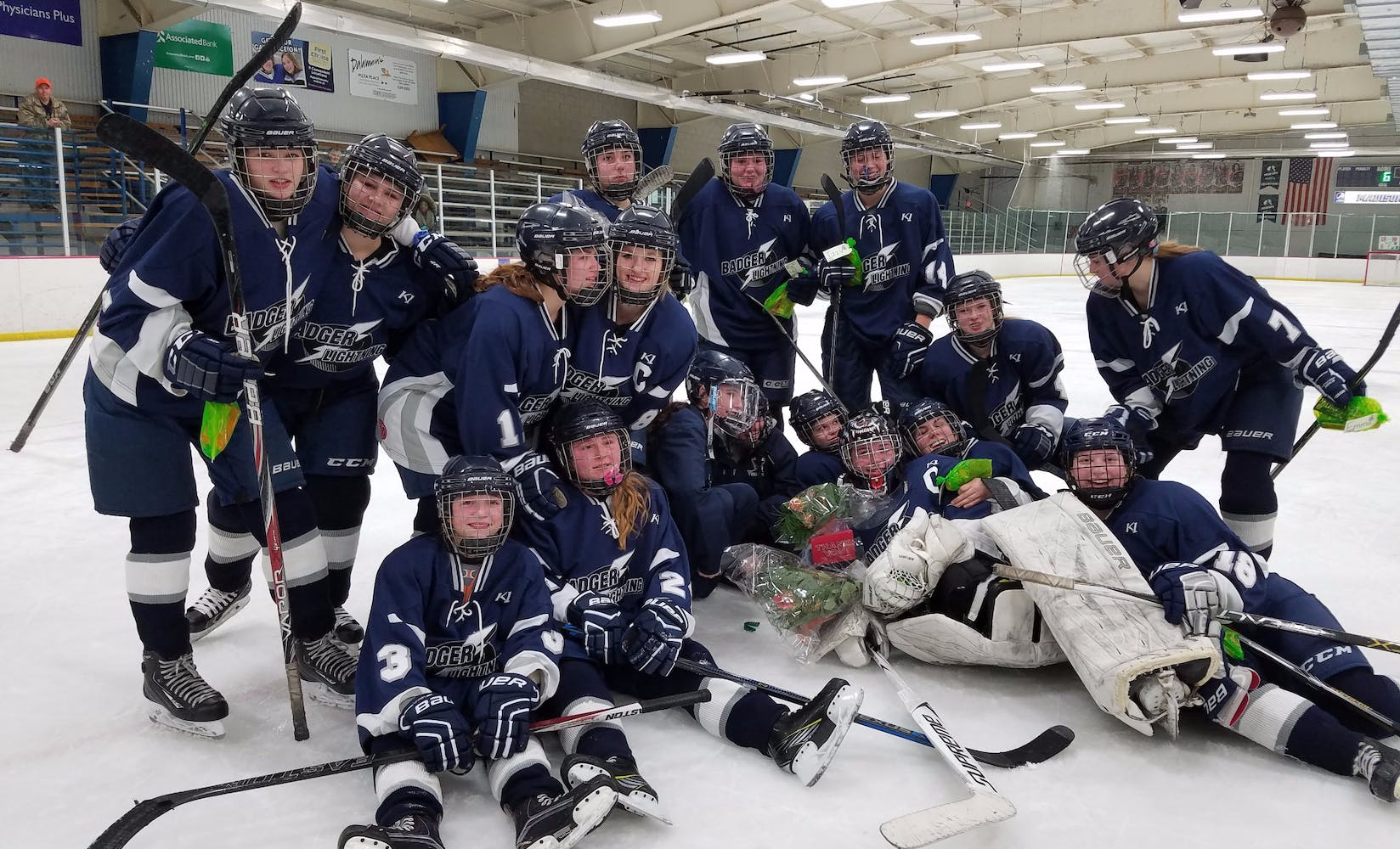 Badger lightening girls high school hockey team