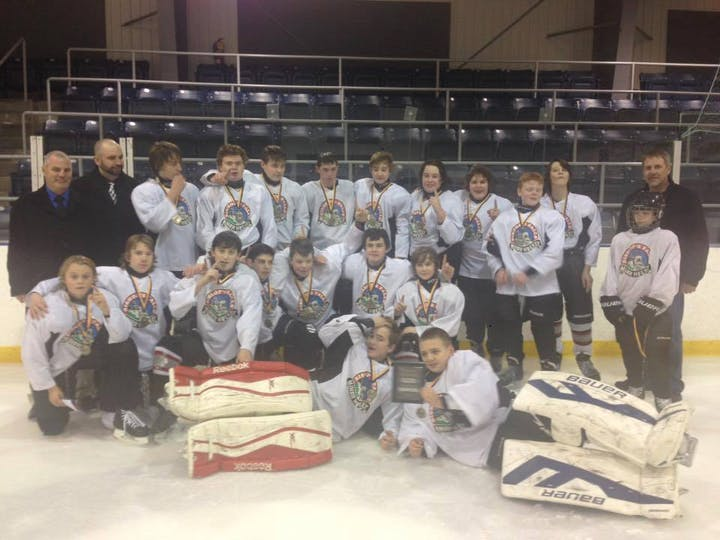 The Bishop's Falls Express Receive The 2017 Get In The Game Hockey Grant