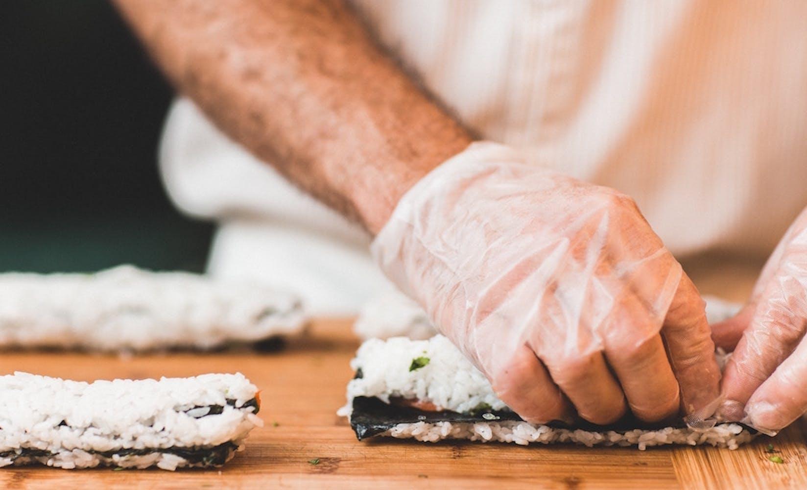 Sushi making class fundraiser flipgive