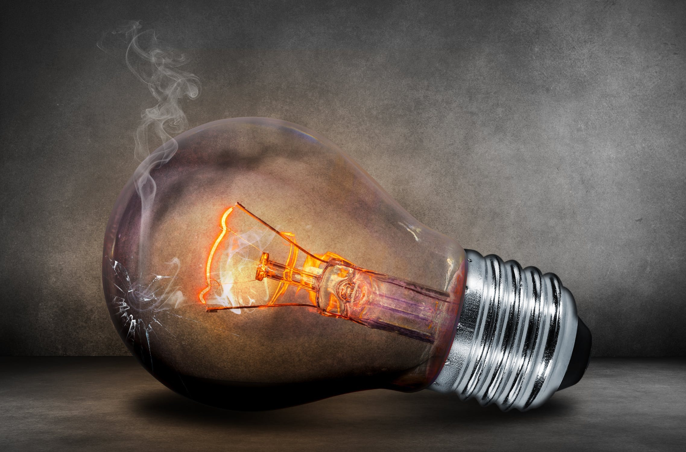 Light bulb current light glow 40889